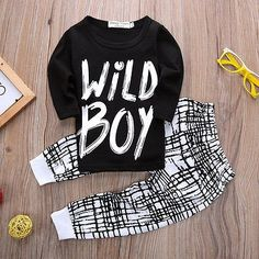 Baby Boy  Long Sleeve Top   Pants Autumn 2 Piece Clothing Outfit