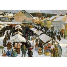 Lars Jorde (Norwegian, 1865 - 1939)  'Marken i Lillehammer'