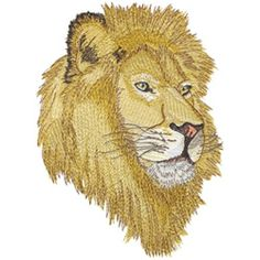 Dakota Collectibles Embroidery Design: Lion Head 6.94 inches H x 5.02 inches W