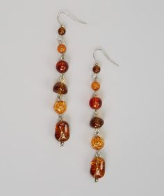 Take a look at this Amber Beaded Chain Earrings by Treska on #zulily today!