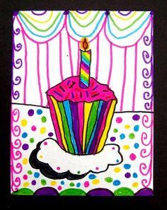Cute cupcake. Study wayne thiebaud and do with 3rd grade?