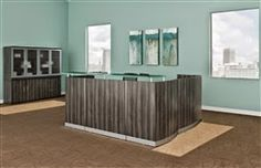 Office Design: New Reception Desks Available from the Mayline Medina Collection! http://officefurnituredealsblog.blogspot.com/2015/04/whats-new-medina-reception-desks-by.html