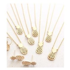 "• Pineapple Necklaces • If you you like pina coladas...  These gorgeous pineapple necklaces come in silver and gold tones. Stainless steel material, will not tarnish (yay!) Lead + nickel free. 16.8"" length   PLEASE DO NOT purchase this listing. Comment below and I'll make a new listing for you. Thanks! Xoxo Jennifer's Chic Boutique Jewelry Necklaces"