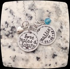 Blended Family Gift, Adoption Gift, Mommy Necklace, Adoption Jewelry, Step Daughter Gift, Adoptive Foster Parent Gift