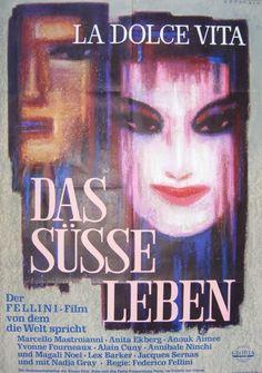 LA DOLCE VITA (Dir. Federico Fellini, 1960) - German poster