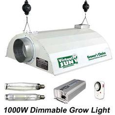 Virtual Sun VSD1000WDS 1,000-Watt Dimmable MH/HPS Digital Grow Light Kit