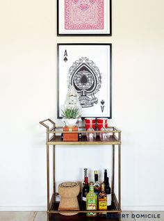 Living Room Gallery Wall ProgressInexpensive Large Wall Art OptionsTarget Bar Cart