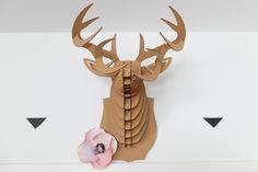 Cerf en carton et anémone DIY