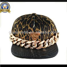 Custom Metal Plate Logo Hip Hop Leopard And Leather Snapback Hat - Buy Hip Hop Hat,Leather Snapback Hat,Metal Snapback Hats Product on Alibaba.com