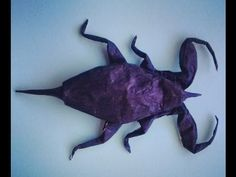 Origami Scorpion Pre Creasing - YouTube