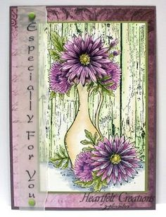 Delicate Asters Vase by Heidi Erickson