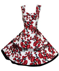 Ladies 50's Vintage Style Red Rose Lace Up Rockabilly Prom Swing Tea Dress (12) Love Camden http://www.amazon.co.uk/dp/B00CCVQ2K2/ref=cm_sw_r_pi_dp_INVwwb1YDFG2K