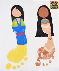 Princess Footprints Mulan and Pocahontas