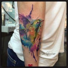 AquarellKolibri by Max Ghostar/ Resident at Freibeuter Tattoo Winterthur #maxghostar #aquarell #aquarelltattoo #watercolor #watercolortattoo #freibeutertattoo #freibeuter_tattoo #winti #winterthur #winterthurtattoo #zurich #zürich #kolibri #bird #tattoo #tattoolife #tattooart #tattooer #colortattoo #art #artwork #freedom #sky #fly #armtattoo by freibeuter_tattoo