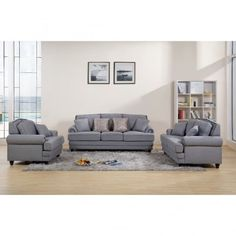 Chic My Room contemporary Nicole upholstered suite 3+2+1 sofa settee grey neutral comfortable living room seating