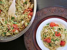 quick pesto shrimp pasta | Budget Bytes