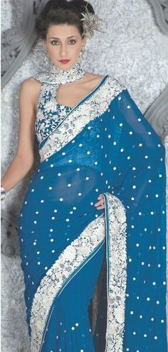 Parsi Gara Embroidered Saree Border and Blouse