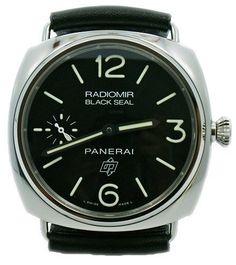9b62db11206a4 Men`s Stainless Steel Panerai Radiomir Black Seal Logo Watch