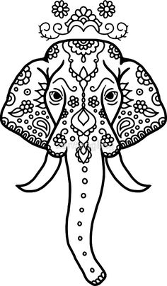mandala elephant coloring pages easy - photo#38