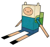 Adventure Time paper craft www.paperfoldables.com