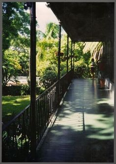 Outside Porch at Ernest Hemingway's Home in Key West, Florida