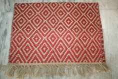 jute Kilim Rug Door Mat Floor Mat Vintage Kilim Yoga Mat 2x3 Feet  #Turkish