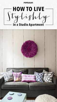 How to Live Stylishly in a Studio Apartment--I love everything about this design