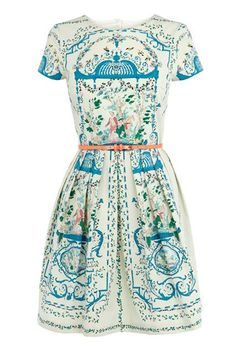Rachel Khoo's Placement Print Dress