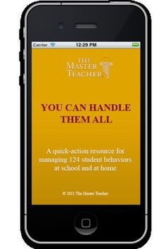 You Can Handle Them All - this is the perfect app for any educator or parent who's struggling to manage a student's or child's inappropriate behavior! - $1.99