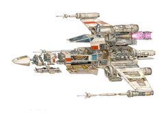 The amazingStar Warsvehicles and location cutaways by Hans Jenssen