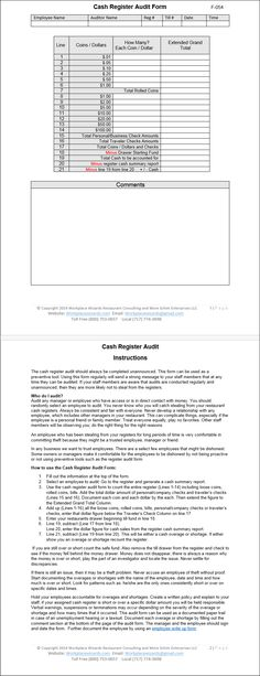 Daily Cash Sheet Template CASH COUNT SHEET - Audit Working Papers