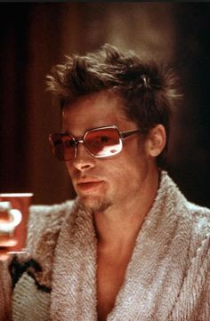 beaab44036e Brad Pitt in the 1999  movie Fight Club Oliver Peoples  vintage  shades  Tyler