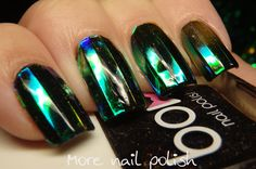 Shattered glass lines ~ More Nail Polish