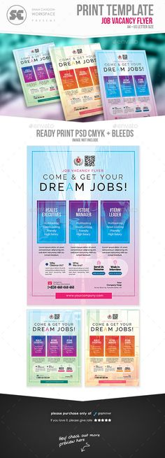 flyer templates designed exclusively for job vacancy team recruitment career fair or any of