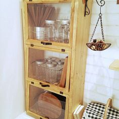 Trendy home diy improvement shelves Ideas Diy Interior, Room Interior, Diy Kitchen Storage, Vintage Kitchen Decor, Wooden Cabinets, Vintage Interiors, Trendy Home, Home Organization, Furniture Decor