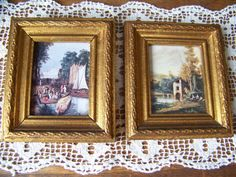 Vintage Made in Italy Pictures set of 2. Italian. by lesaestes