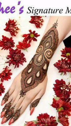 Kashee's Mehndi Designs, Back Hand Mehndi Designs, Mehndi Design Photos, Mehndi Designs For Fingers, Beautiful Mehndi Design, Latest Mehndi Designs, Mehndi Images, Mehendhi Designs, Mehndi Designs For Beginners