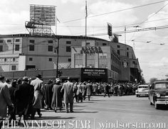 April 27, 1957: Tiger fans may see new nameplace over Detroit Stadium. (File photo – The Windsor Star)