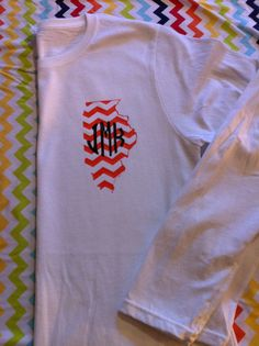 Long Sleeved Monogrammed State Pocket T-Shirt All States Available - Vinyl on Etsy, $18.00