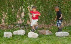 Stepping Boulders for the natural preschool playground. Hop from boulder to boulder through the natural playscape! , Stepping Boulders - Set of 5 Preschool Playground, Playground Ideas, Dog Training Equipment, Green Play, Outdoor Play Spaces, Outdoor Play Equipment, Farm Nursery, Outdoor Classroom, Outdoor Learning