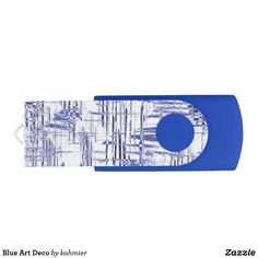 Blue Art Deco Flash