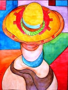 ACEO:  Original Abstract Figure Painting- THE SEARCHER - Mexican Hat Painting, Colorful Dynamic Surreal !!!! A true collectors item. by brushworksbymonte. Explore more products on http://brushworksbymonte.etsy.com