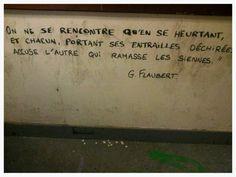Street art. Paris. Le Bloc. FLAUBERT. Maudéa