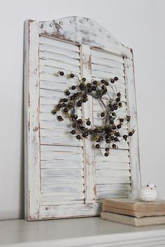 shutters distressed like this