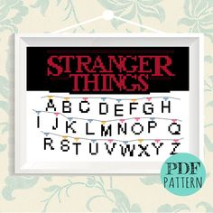 Stranger Things cross stitch pattern Category: TV #crossstitch #xstitch #StrangerThings #pattern #freebie #download