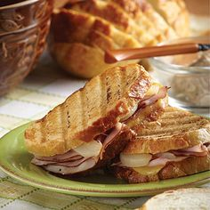Scott's Ham & Pear Sandwiches | The untraditional flavors of Scott's Ham & Pear Sandwiches pair together beautifully. Adding the spiced butter as a spread takes this tasty dish over the top.