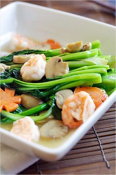 Chinese vegetable recipe choy sum the key to cooking vegetable in chinese or cantonese restaurants chinese vegetables choy sum are often served two forumfinder Images