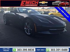 2014 Chevrolet Chevy Corvette Stingray 1LT $51,991 3832 miles 303-395-9830  #Chevrolet #Corvette Stingray #used #cars #EmichChevrolet #Denver #CO #tapcars
