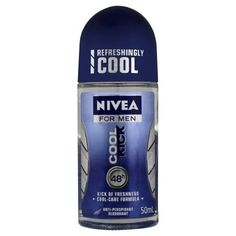 Nivea Cool Kick Anti-perspirant Deodorant Roll-On, 1.7 Fluid Ounce (Pack of 2). Skin tolerance dermatologically proven, even after shaving or trimmin. 48h effective regulation of perspiration with a cool kick of freshness. Nivea for Men Deodorant Cool Kick with its Cool-Care Formula offers you the real confidence of effective 48h regulation of perspiration with a kick of freshness. The optimal combination of reliable antiperspirant protection and Nivea's mild care.
