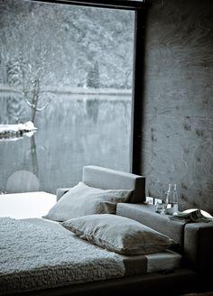 Light # interior decorating # winter # grey bedroom
